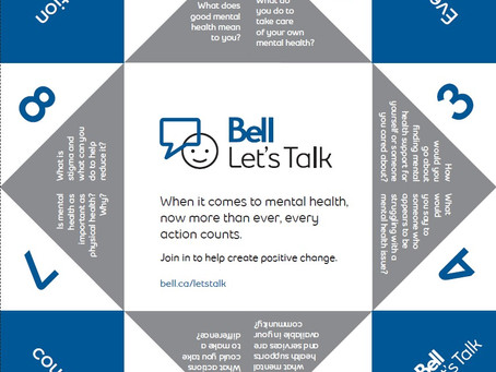 It's Bell Let's Talk Day
