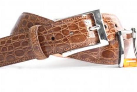 Martin Dingman Wallace Authentic Crocodile Belt