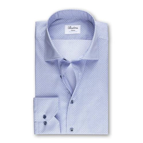 Stenstroms Blue Patterned Slimline Shirt