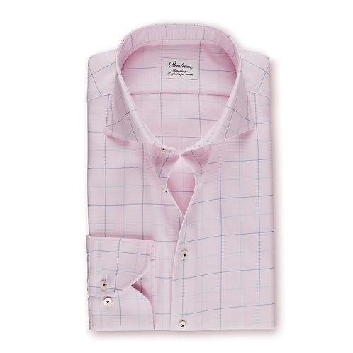 Stenstroms Light Pink Windowpane Fitted Shirt