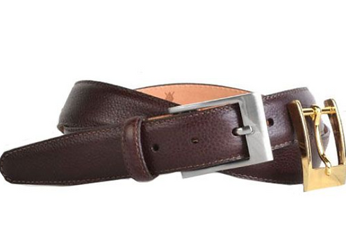 Martin Dingman Delaney Scotch Grain Leather Belt