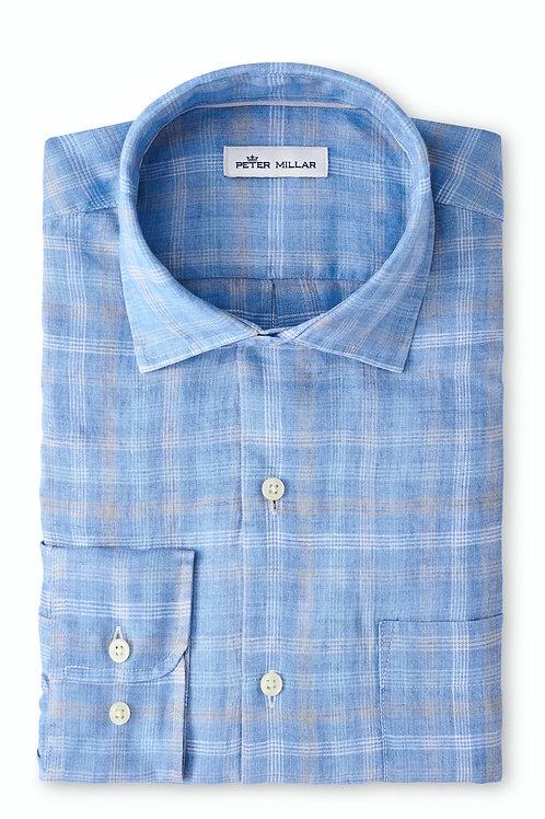 Peter Millar Duxbury Beach Linen Sport Shirt