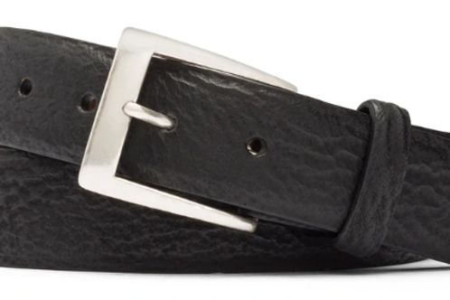 W. Kleinberg Shark Belt with Brushed Nickel Buckle