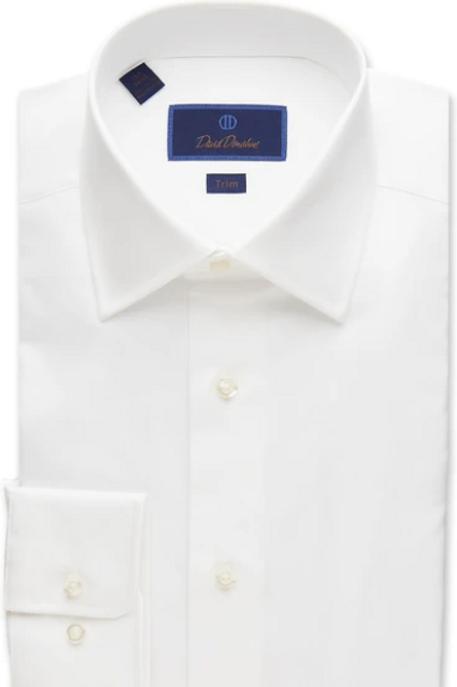 David Donahue Super Fine Twill Dress Shirt