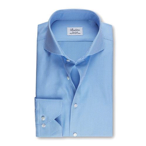 Stenstroms Light Blue Textured Fitted Body Shirt