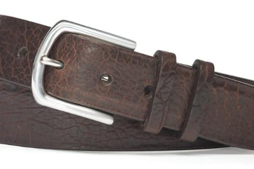 W. Kleinberg American Bison Belt with Nickel Buckle