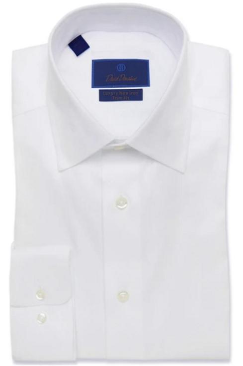 David Donahue White Non-Iron Dress Shirt