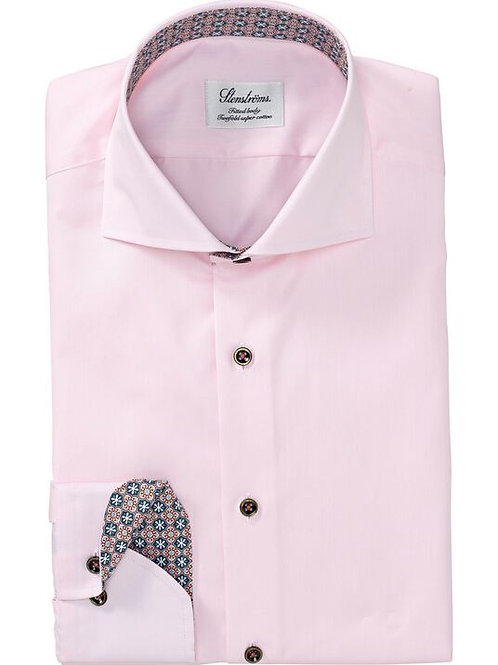 Stenstroms Fitted Body Pink Colored Collar