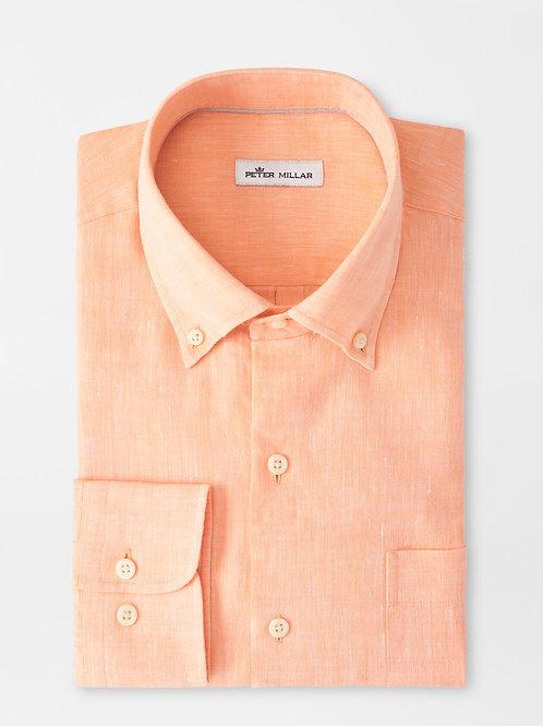 Peter Millar Sardinia Linen-Blend Sport Shirt