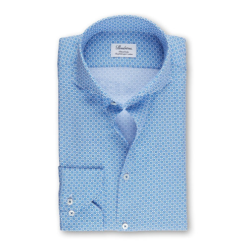 Stenstroms Blue Patterned Fitted Sport Shirt