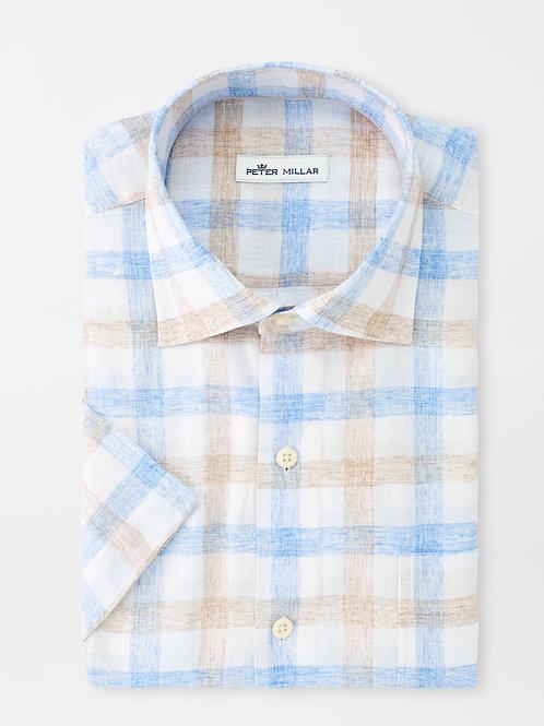 Peter Millar Crown Soft Gingham Short-Sleeve Sport Shirt