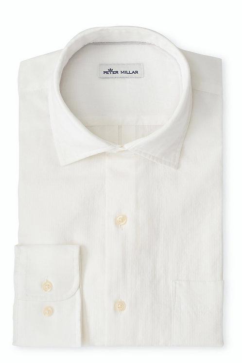 Peter Millar Cannon Beach Slub Cotton Sport Shirt