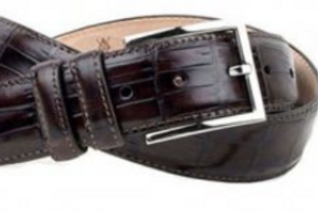 Martin Dingman Alexander Alligator Grain Leather Belt