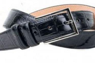 Martin Dingman Alexander Alligator Print Leather Belt