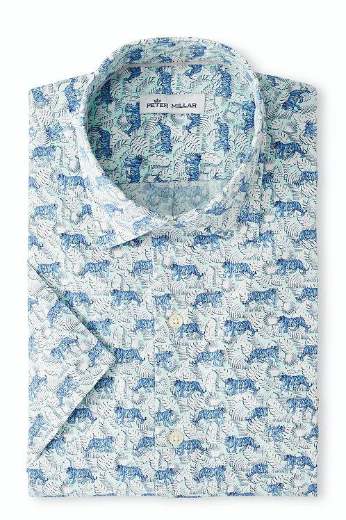 Peter Millar Jungle Exotic Cotton-Blend Sport Shirt