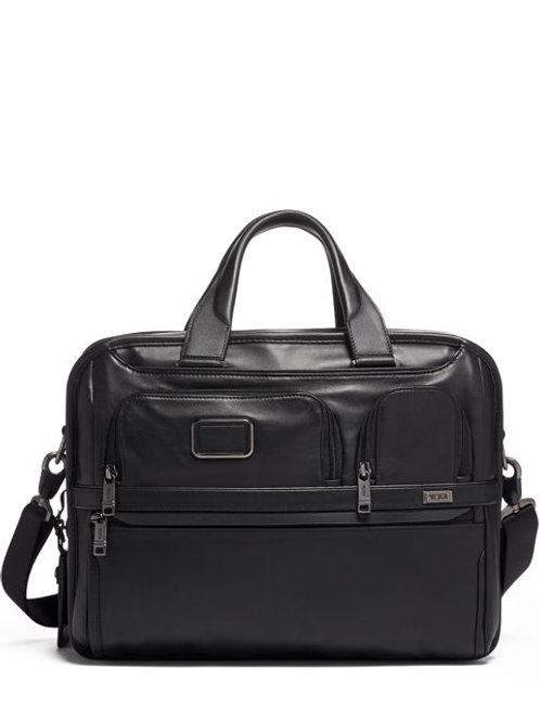 Tumi Expandable Organizer Laptop Brief Leather