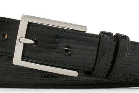 W. Kleinberg Classic Lizard Belt with Nickel Buckle