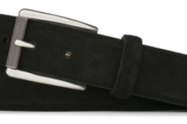 W. Kleinberg Suede Belt with Nickel Roller