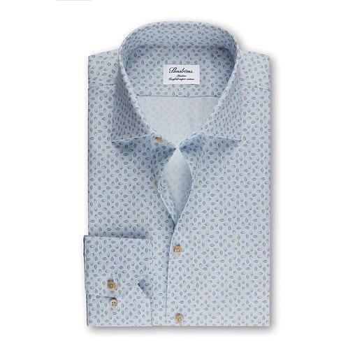 Stenstroms Fitted Body Shirt Leaf Pattern