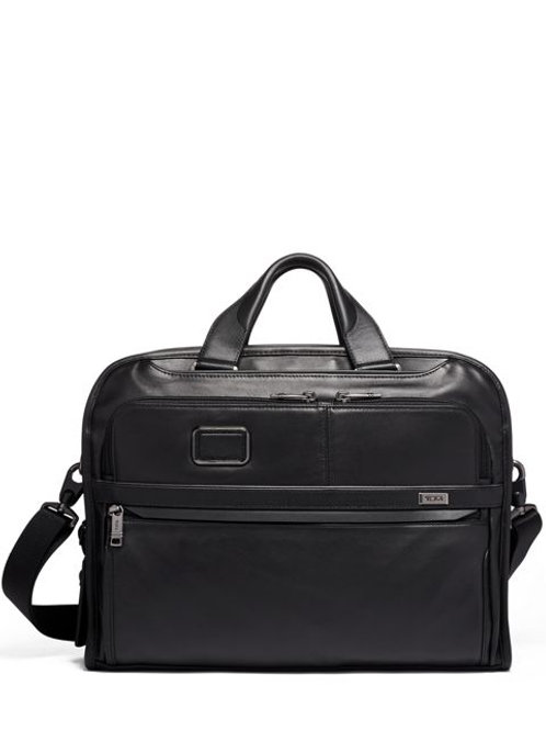Tumi Organizer Portfolio Brief Leather