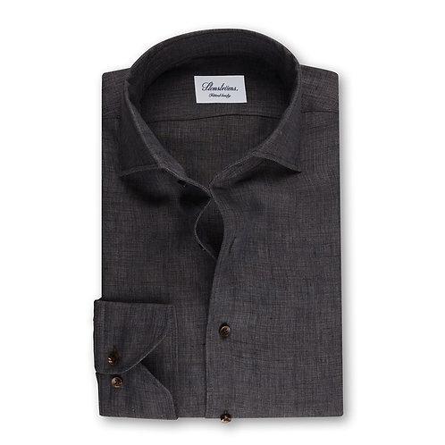 Stenstroms Dark Brown Fitted Body Shirt