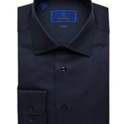 David Donahue Black Micro Textured Shirt