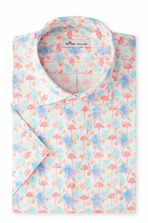 Peter Millar Paradise Cotton-Blend Sport Shirt
