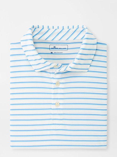 Peter Millar Catamaran Aqua Cotton Polo