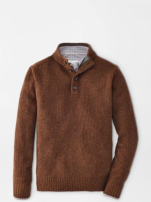 Peter Millar Basket-Weave Mock Sweater