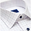 Thumbnail: David Donahue White and Lilac Tattersall Dress Shirt