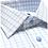 Thumbnail: David Donahue White & Seafoam Textured Check Dress Shirt