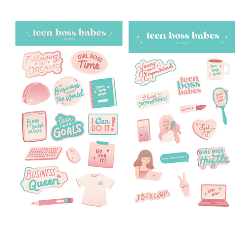 Teen Boss Babes Sticker Sheets