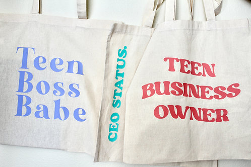 Teen Boss Babes Tote Bag Collection #2