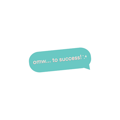 On My Way To Success Sticker