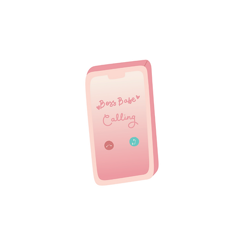 Boss Babe Phone Sticker
