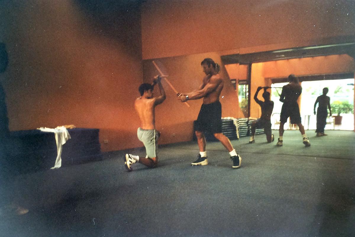 Jonathon training actor - Conan 1997/98