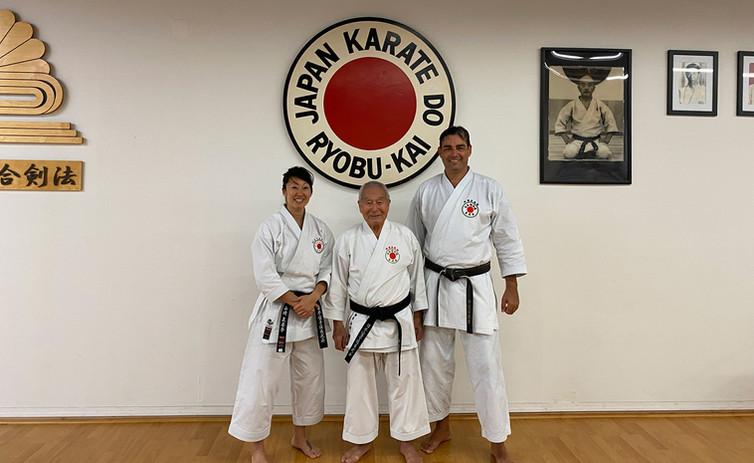 Sensei Mina Yamazai, Kaicho Kiyoshi Yamazaki, Sensei Jonathon – December 2019