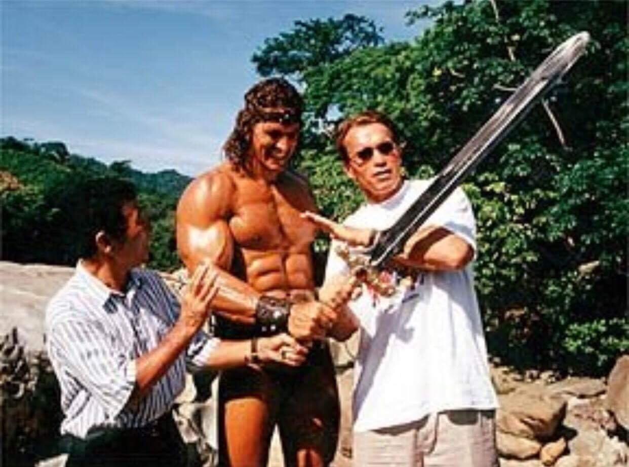 Sensei Yamazaki, Ralf Moeller, Arnold Schwarzenegger 1997/98 Conan