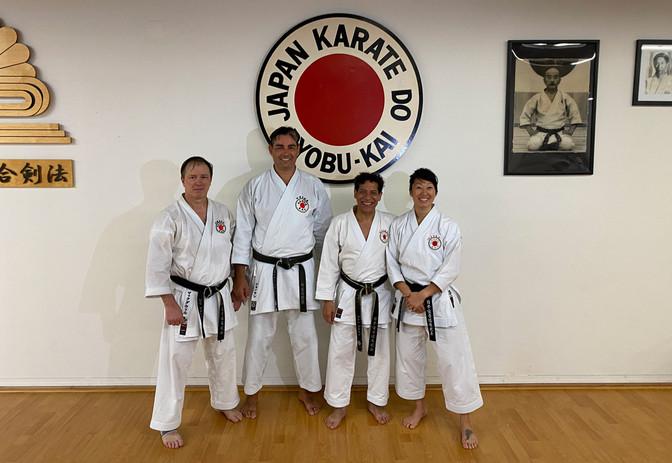 Sensei Bill (Hombu), Sensei Martin Marterano (JKR Venezula), Sensei Mina (Hombu) - December 2019