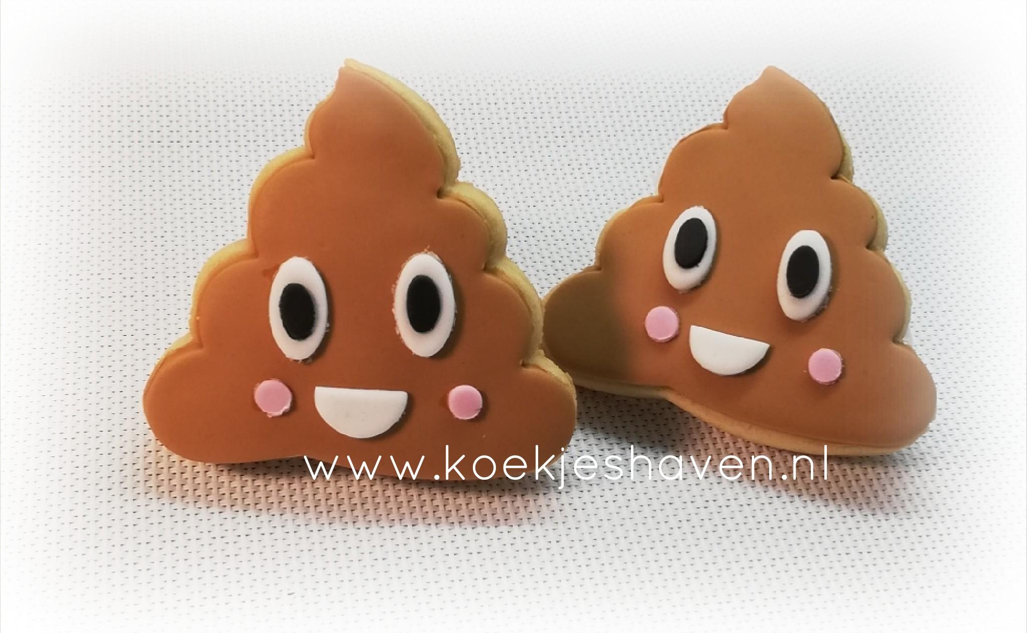 Drol Emoji/Poop Emoji Koekjes