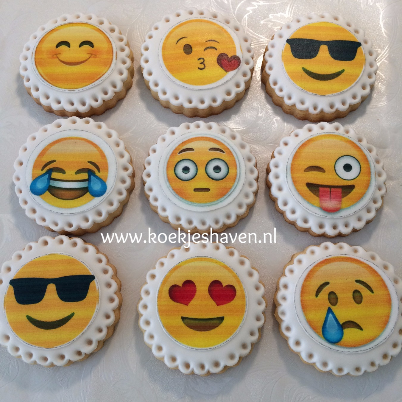 Emoji koekjes
