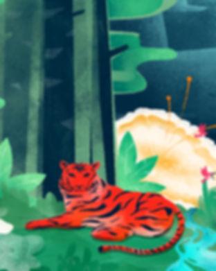 숲에서 명상