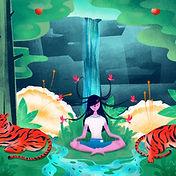 Meditatie in Forest