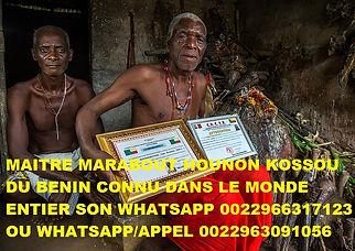 Maitre hounon kossou du Benin 0022963091