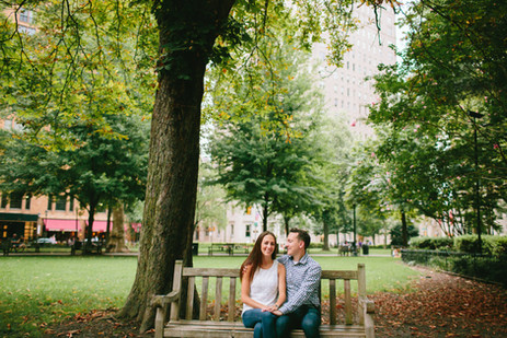 Rittenhouse Square Engagement Session