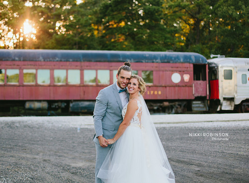 Megan + Mike | Everly at Railroad Wedding | Nikki Robinson Photography