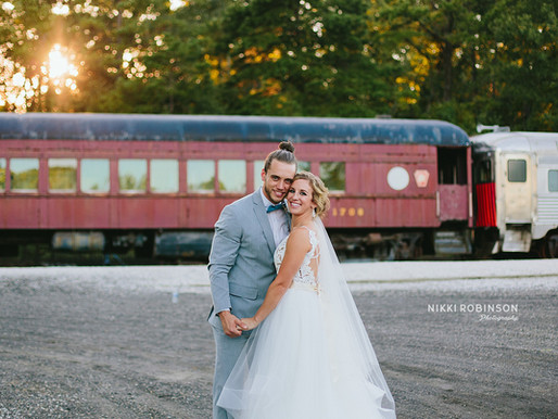 Megan + Mike | Everly at Railroad Wedding | Nikki Robinson Photography