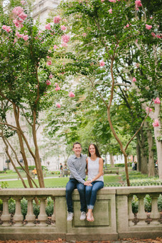 Rittenhouse Square Engagement Session
