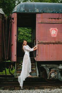 Everly at Railroad Wedding