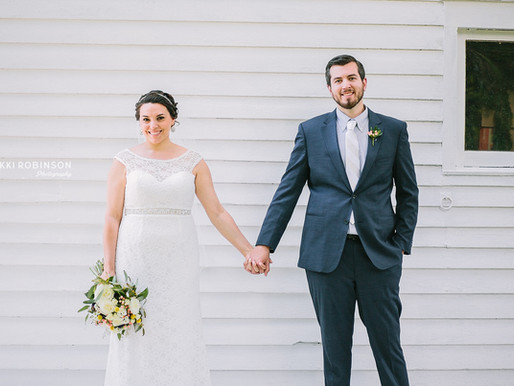 Tiffany + Nathan | Backyard Farmhouse Wedding | Nikki Robinson Photography